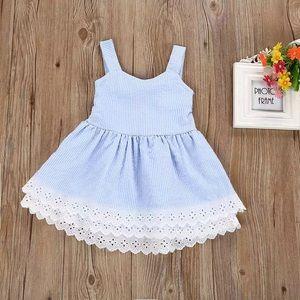 Dresses & Skirts - Lilliana Baby Blue Sun Dress For Girls
